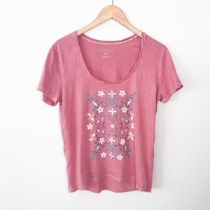 LUCKY BRAND Pink Vintage Wash Top